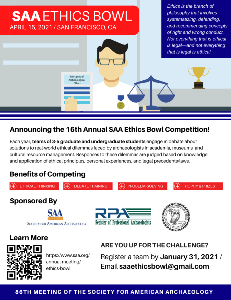 SAA Ethics Bowl 2021 Flyer