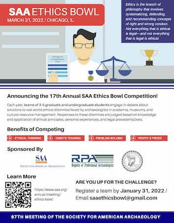 SAA Ethics Bowl 2022 Flyer